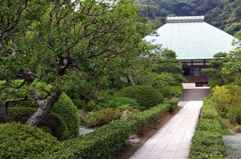 本堂へ続く、参道。本堂左手に「喜泉庵」入口があります。