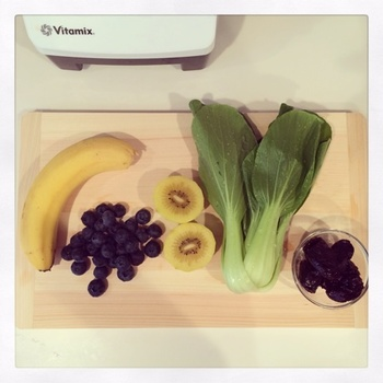 ・チンゲン菜 ・バナナ ・ブルーベリー ・キウイ ・プルーン ・豆乳 4カップ