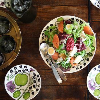 一番小さい16.5センチのお皿は、取り分け皿に丁度良いサイズ。