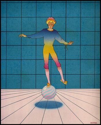 独特の色彩感覚が彼の作品の特長でもあります。