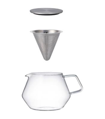 洗浄もしやすいシンプルな構造です。 電子レンジで使用できる耐熱ガラス製なので、とても実用的です。