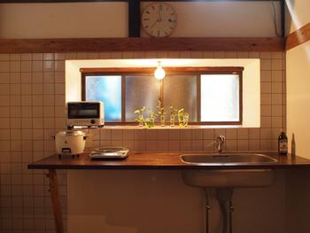 ■ゲスト用キッチン 思わずそこに立ってみたくなるような空間… ゲストの方のフリーキッチンスペース。