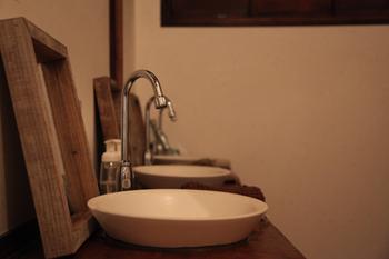 ■洗面所 清潔感があるので女性も安心ですね。