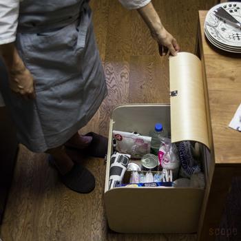 キッチンで使うあらゆる物。 細々とした物を収納しておくのに便利ですよね… サッと取り出せる感覚もやみつきになりそう♪