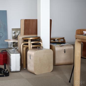 ただの収納では無く 何気なく部屋のあちこちに置いても様になり、インテリアとしての素晴らしさを感じます…。