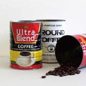 アメリカで買い付けた、コーヒーブランドのヴィンテージ缶。 65年~75年代のものだそうです。  ガーデニングの鉢植えとして使ってもいいですね♪
