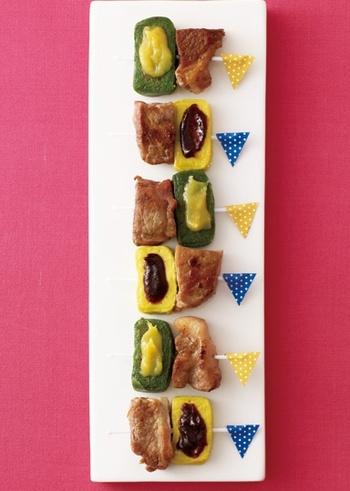 いつもは田楽や煮物に使う「生麩」もこんなにお洒落に♪生麩+味噌ダレと豚肉が説妙に合うんです!
