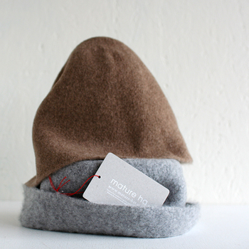 mature bell hat  グレー/ブラウン
