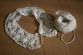 寒い季節は毛糸で手仕事。優しい雰囲気でかわいく仕上がります。