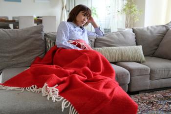 足元が寒いときは、これひとつだけで十分。テレビを見たり、読書をしたり、リラックスタイムのお供に。