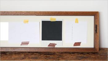 こんな風に、台紙に自分で位置を合わせて貼っていくから、どんな部分でも真ん中に見せられることができるんです。