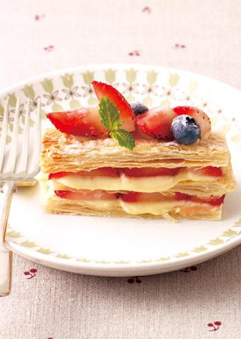さくさくのパイ生地とカスタードクリームの相性は抜群。イチゴの美味しい季節に是非!