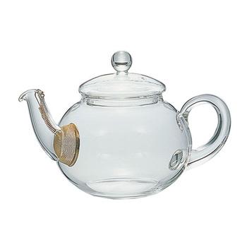 注ぎ口に茶こしが付いている「ジャンピングティーポット」。美味しい紅茶に欠かせないと言われているジャンピングが起こりやすいデザインが特徴です。