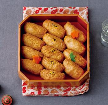いなり寿司は冷めてからが美味しい料理の代表。辛子を利かせて大人の味わいに。