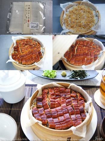 櫃まぶしは、うなぎ料理の定番。プロの料理も蒸籠があれば自宅で手軽に味わえます。折角のうなぎだから、生わさびと美味しい海苔を用意しましょう。