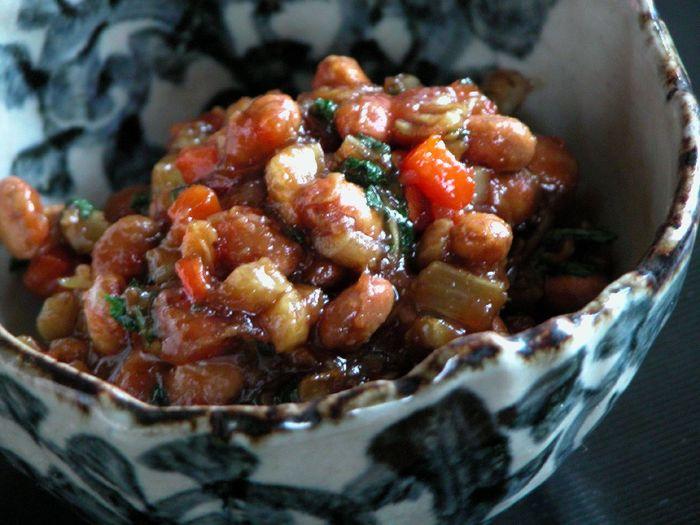 本来は大豆を炒ってから作り始めますが、節分のお豆で代用すれば、時短できちゃいます!
