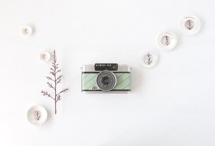 60年代のカメラに、新しい命を吹き込む宇津木りえさん。時代とともに、忘れ去られようとしているカメラをレストアし、 素敵なデザインに変えて、新たに販売されています。