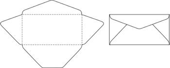 展開した姿が菱形をしているところから「ダイヤモンド貼り(ダイヤ貼り)」と言われる封筒の形です。
