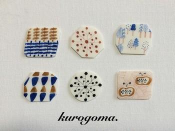 kurogoma.さんの北欧風の絵がかわいいブローチ。