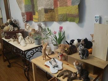 フェルト人形制作がうまくなるコツは「よく観察すること」「素材を知ること」「技術の習得」。そして一番大事なのは「飼い主さん目線で見て作ってあげること」。 優しく、心癒す作品であって欲しいと中山さん。