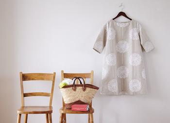 リラックス感たっぷりのチュニックも、サイズや着丈をセレクトしてセミオーダーが可能! 洋服屋さんでなかなか手に入らない素敵な生地で、作ってみませんか?