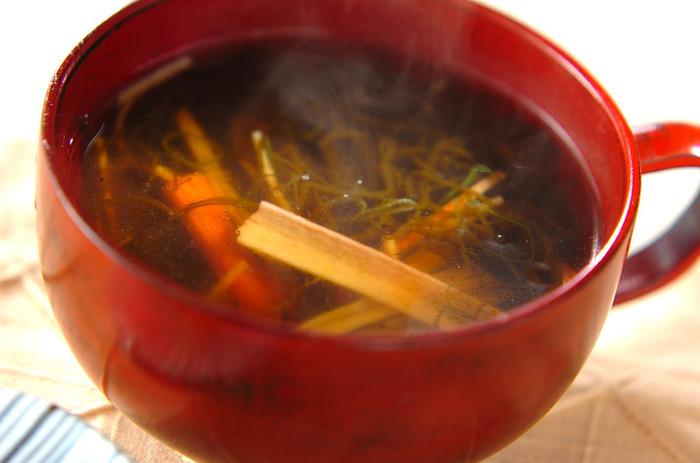 もずくを使ったスープなんてどうでしょうか? 身体が温まりますよ!