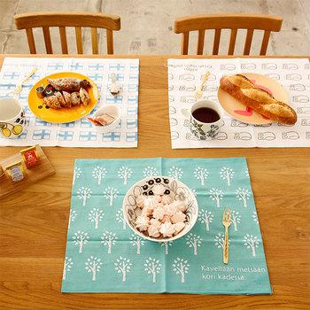 いろんな柄を組み合わせて使えば、食卓が賑やかに♪