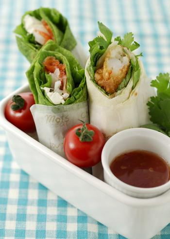 カップサラダと一緒にかごに入れれば、ピクニックやお花見弁当にもぴったり!