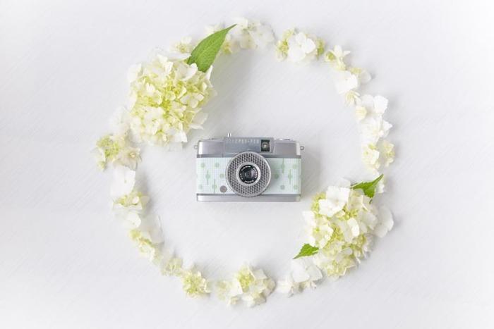 宇津木さんの好きな花のひとつアジサイと組み合わせた「Sherbetシリーズ mintgreen」。(画像提供:Rie-Came)