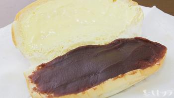 福田パンの1番人気メニュー「あんバター」。甘いあんことバターのコクがよくあいます。かなりのボリュームでカロリーも高めですが、その美味しさには勝てずペロリと食べてしまいます。