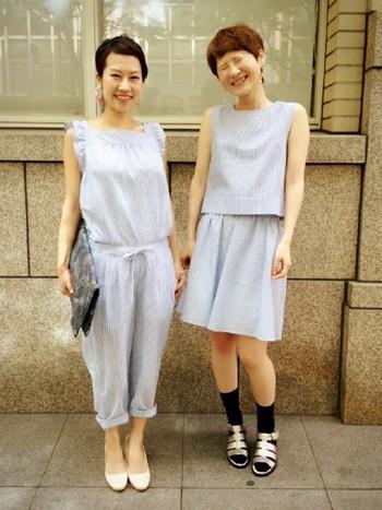 同じ柄でも、着こなしによって印象も変わってきます。友達やカレとペアルック風に着ても可愛い…かも?