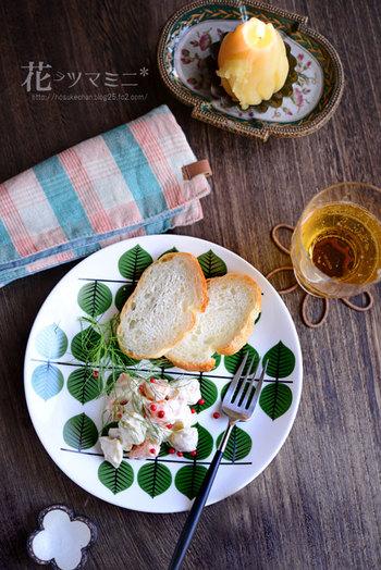 こちらはなだ万のお料理からアイデアを得たという「柿栗チーズ白和え」