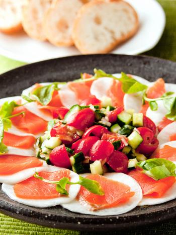 サラダ感覚で頂ける一品!オレンジと白のコントラストが、とても綺麗です。