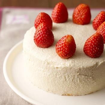 ヘルシーなお豆腐クリームのショートケーキも作れちゃう!