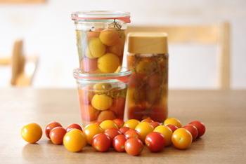 自家菜園で採れたプチトマトを美味しく消費♪お弁当のすきまおかずとしても重宝します。
