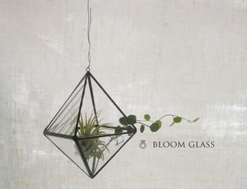 ステンドグラスのテラリウムは、古民家などで使用されていたアンティークガラスが使われています。 お花や木の実を入れたり、貝殻を入れてみたり、楽しみ方は自由自在です。お部屋に新鮮な空気を入れてくれます。