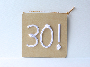 お誕生日の数字を水引で!オリジナリティあふれる1枚。