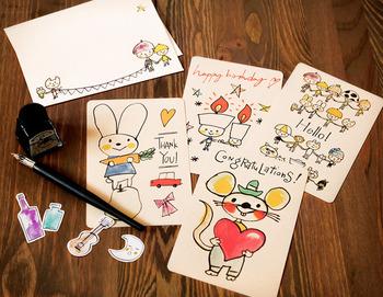 子どもさんのお祝いの時のメッセージカードにぴったり。