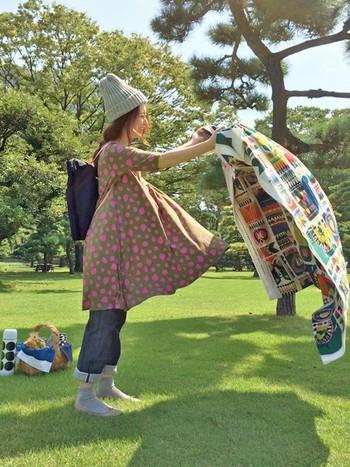 ピクニックや旅行にもとっても便利なリュック。 小さなお子様がいるママさんも、両手が使えるからおすすめです♪
