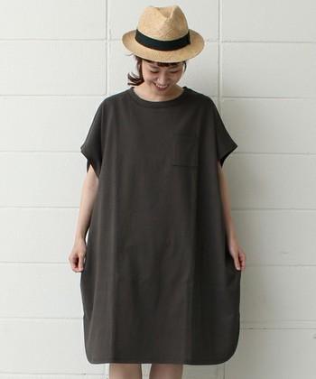 これからの季節にさらっと着やすい綿麻素材がうれしいポイントです。ワイドシルエット&個性的な裾デザインなので、1着で印象的な着こなしが叶います。