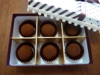 和の素材を合わせたチョコレートも最近はよく見かけますが、梅酒も合いそう!ほわっとフルーティな風味が、とってもおいしそうです♪