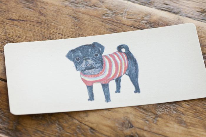 もちろん、ポン太郎くんのイラストが描かれたポストカードもあります。ちょっとした遊び心があるのも大森さんのイラストの特徴