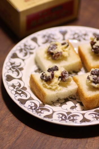 ラムレーズンとバター、コンデンスミルクだけで作れるちょっと大人のデザートです。ワインとの相性も抜群です。泡立てずに作れるので、簡単ですよ。