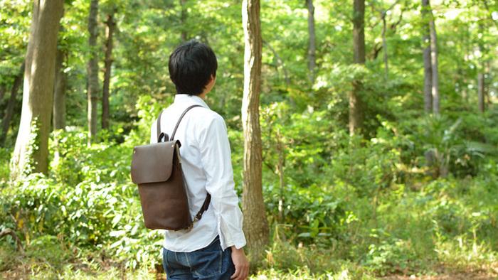 自然な革の風合いを楽しむ。affordance(アフォーダンス)の革鞄と革小物