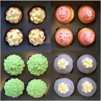 ウェディングなど華やかなパーティーに彩りを添えるカップケーキ。他、メッセージ入りのカップケーキなど、アイデアは無限にありそうなので、何かの機会にお店に直接相談してみるのもいいですね。