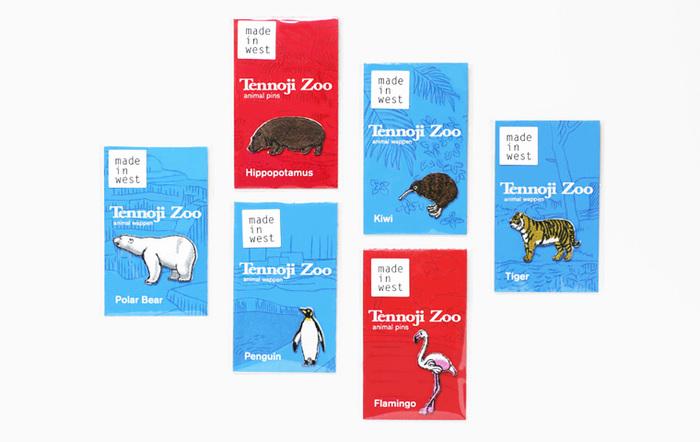 そんな長野刺繍と作った製品がこちら!「天王寺動物園 アニマル ワッペン」です。種類は、天王寺動物園の人気者たち、トラ、フラミンゴ、シロクマ、キウイ、ペンギン、カバの6種類。
