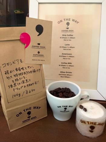 コーヒーメニューはいたってシンプル。ドリップコーヒー、ラテ、アメリカーノ、コーヒーミルク。福田さん自らが店頭に立ち、丁寧に淹れてくれます。カウンター越しに顔を向き合わせるコミュニケーションがまた嬉しい。
