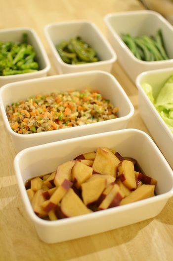MIさんの台所仕事の決め事は、スーパーで購入して来た日にすべて下ごしらえをしておくこと!『常備菜は野菜が新鮮なうちに作る』のがモットーだそうです。