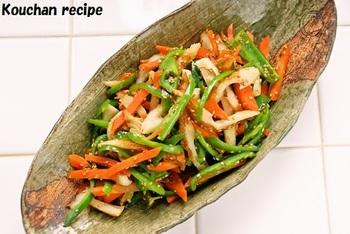 ごまと生姜の風味が食欲をそそります。副菜にはピッタリなので、たくさん作って作りおきをしておくと便利!