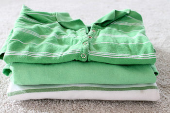 Tシャツだけでなく、ポロシャツなどのカットソー素材ならなんでもOKです。